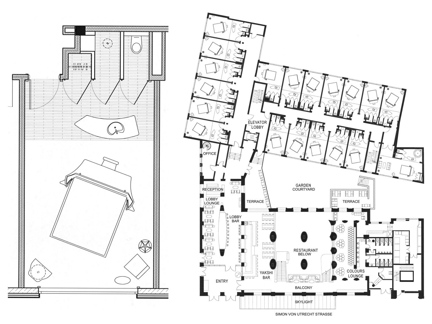 East Hotel Hamburg East Hotel Hamburg, Germany | Hotel Plan, Edition Hotel, Room Layout Design