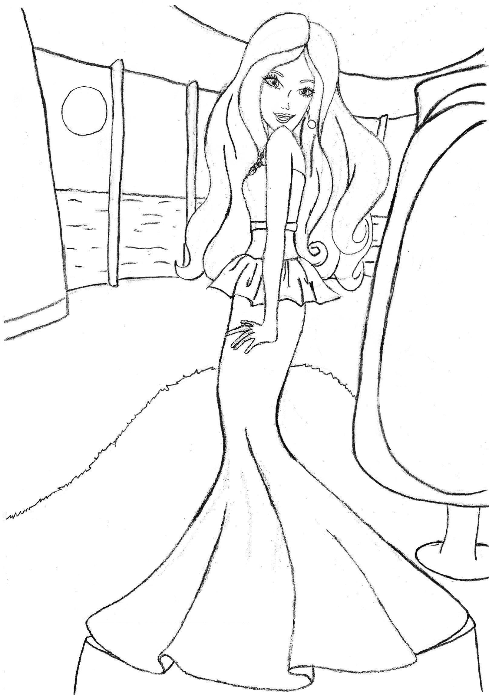Coloring Pages Barbie Pesquisa Google Artes Pinterest