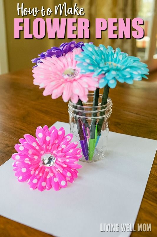 How to Make Flower Pens | Simple DIY Gift Idea
