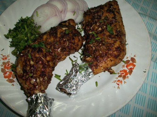 Grilled Chicken Oven Roasted Chicken Legs With A Twist Indian