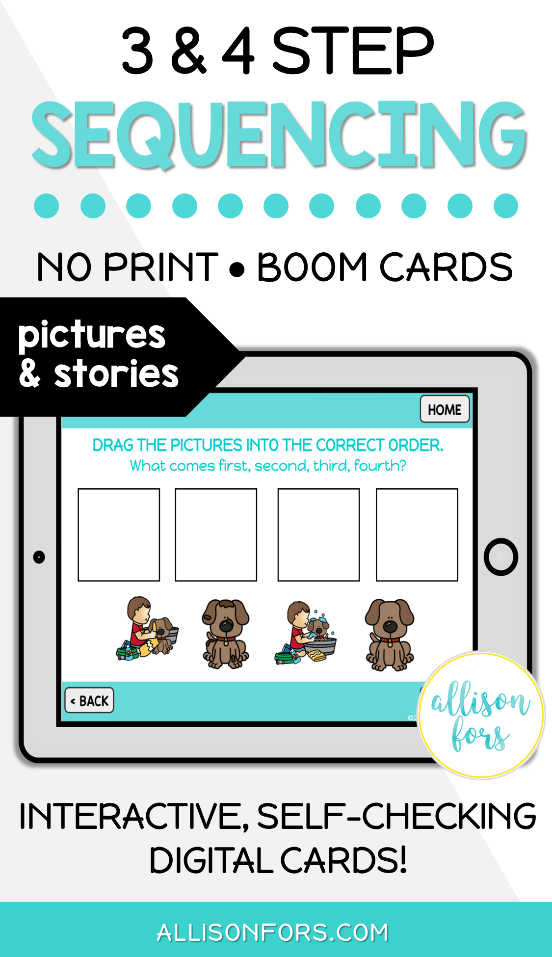 3 4 Step Sequencing No Print Boom Cards