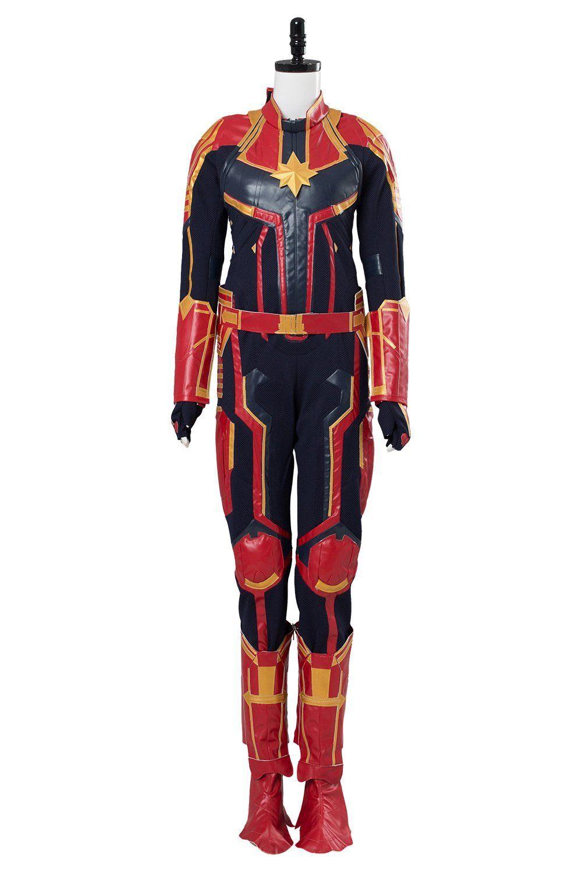 Captain Marvel Ms Carol Danvers Uniform Cosplay Costume Halloween Christmas