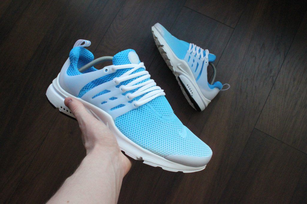 promo code 701f5 91fcf Custom Hand Painted Sky Blue Fade Nike Air Presto Womens Shoes –  LetsGetMeSomeGivenchy