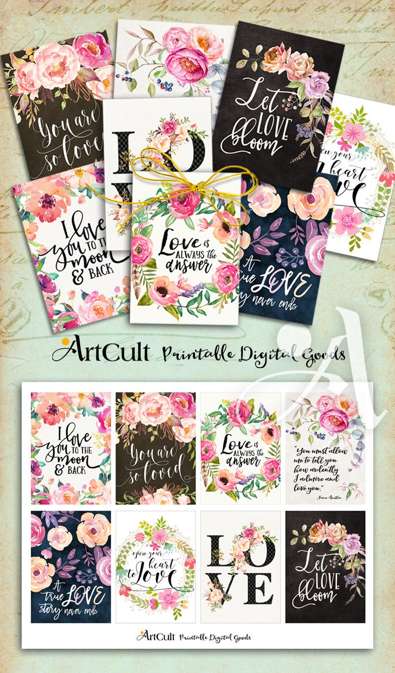 Printable Greeting Cards No2 BIBLE VERSES four 3.5x5 inch size images digital collage sheet for birthday embellishment scrapbooking ArtCult