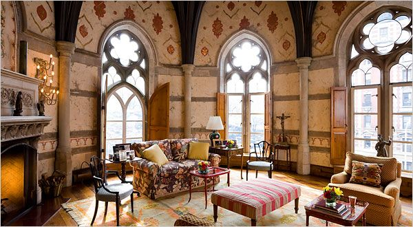 Chapel turned Home {via NYTimes piece I worked on, More Than One Revival in a Manhattan Ruin}