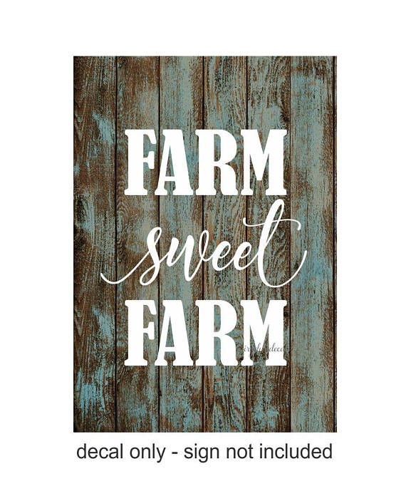 Lovely Farm Sweet Farm Decal Farmhouse Decor Vinyl Letters Farm