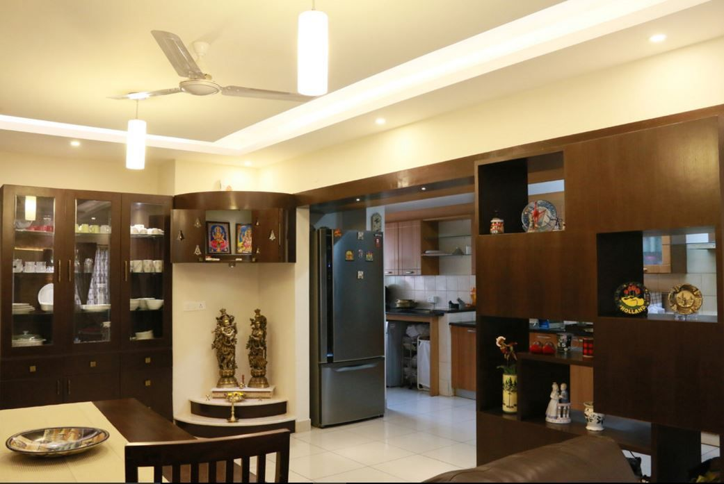 Pooja room designs in hall pooja room hall room and for Dining hall design ideas