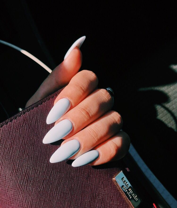 Pinterest: carolinefaith417★ | Almond acrylic nails ...