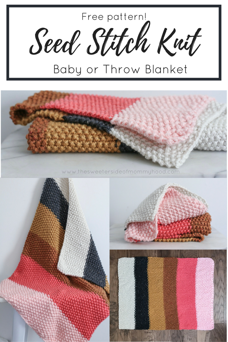 Quick and easy fall seed stitch knit throw or baby blanket free quick and easy fall seed stitch knit throw or baby blanket free pattern bankloansurffo Images