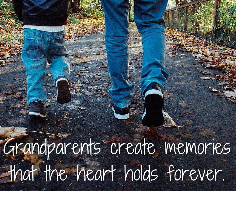 ce45e9823 Grandparent Memories Quote: Grandparents create memories that the heart  holds forever.