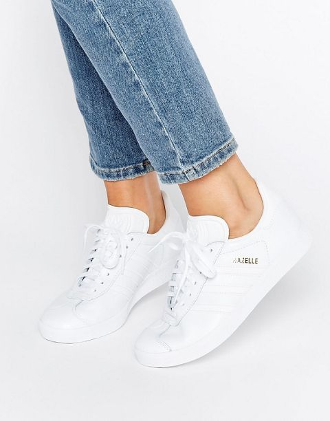 Discover Fashion Online   Adidas shoes women, White leather ...