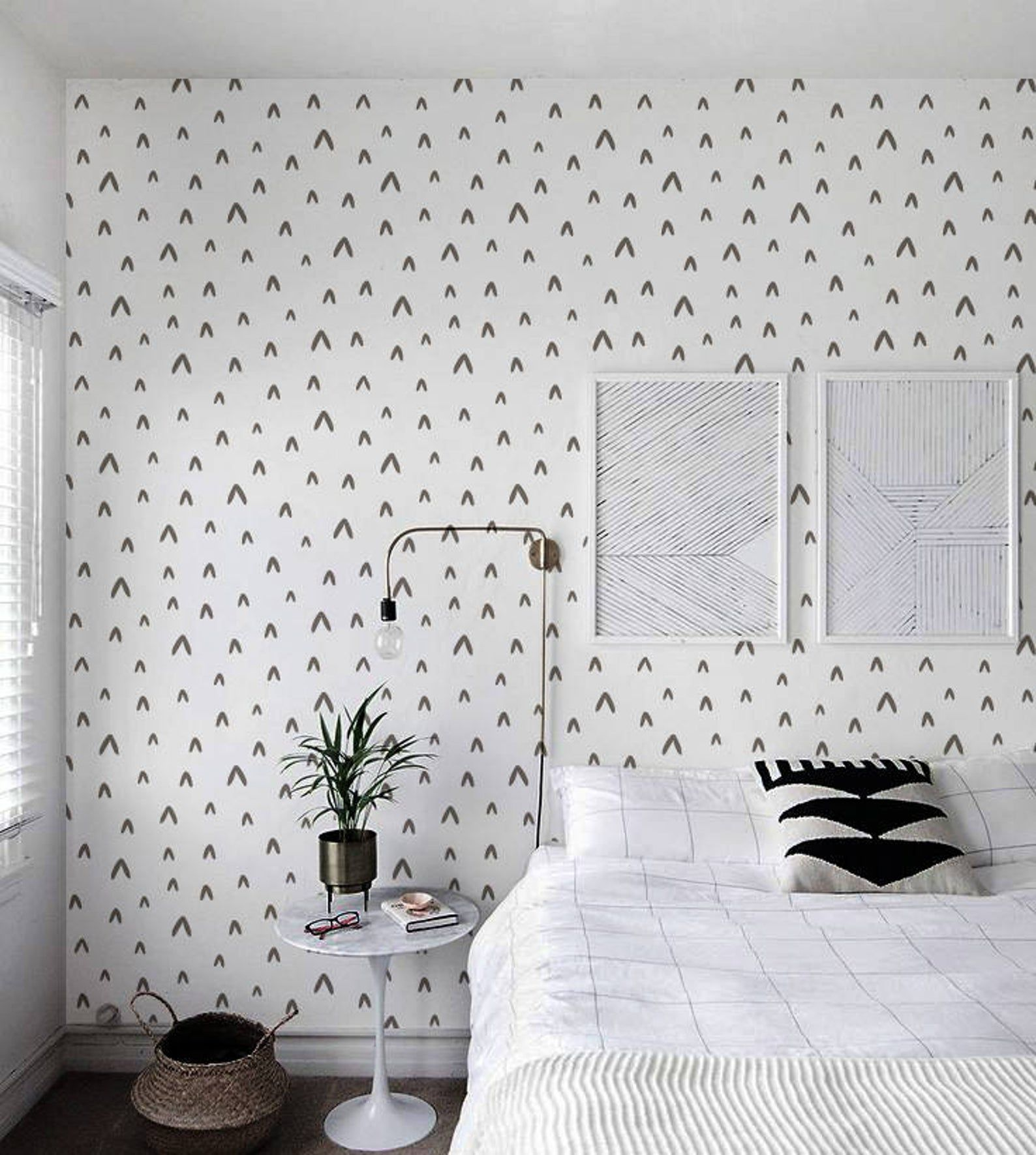 Renters Wallpaper Removable Sticker Wallpaper Cute Abstract In Etsy In 2020 Renters Wallpaper Room Large Wall Decor