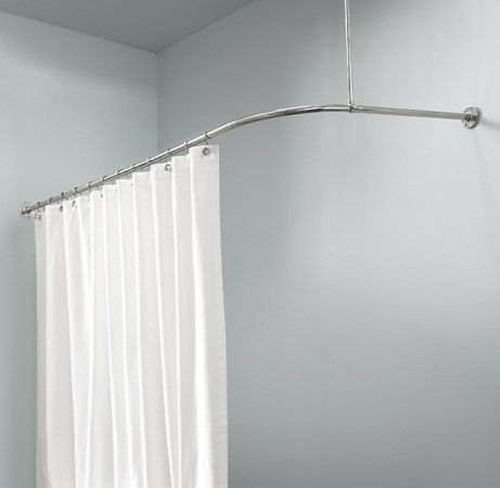 L shaped shower curtain rod | tubs | Pinterest | Shower curtain rods ...