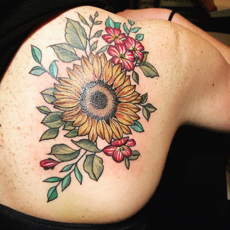 Sunflower Tattoo Tattoos Sunflower Tattoo Chest Tattoo
