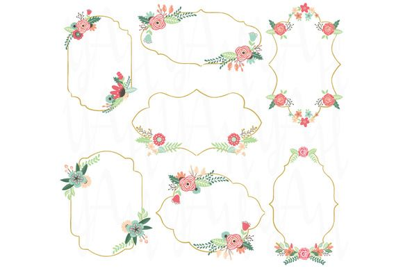 Check out Vintage Flower Frame by YenzArtHaut on Creative Market