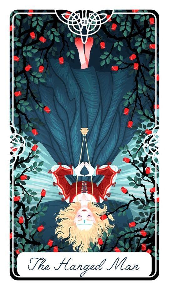 12 - The Hanged Man : Fairytale Tarot by Yoshi Yoshitani