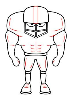 Drawing a cartoon football player  Painting Pumpkins  Pinterest