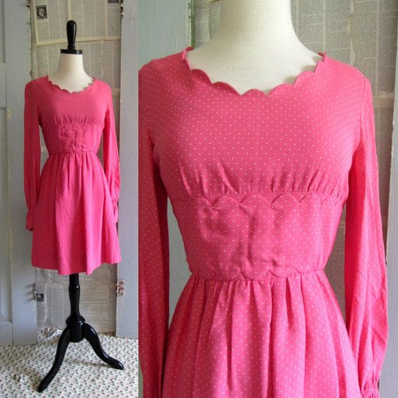 1960s Pink Cocktail Dress 60s Pink Mini by SassySisterVintage, $58.00