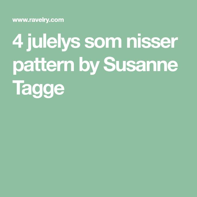4 Julelys Som Nisser Pattern