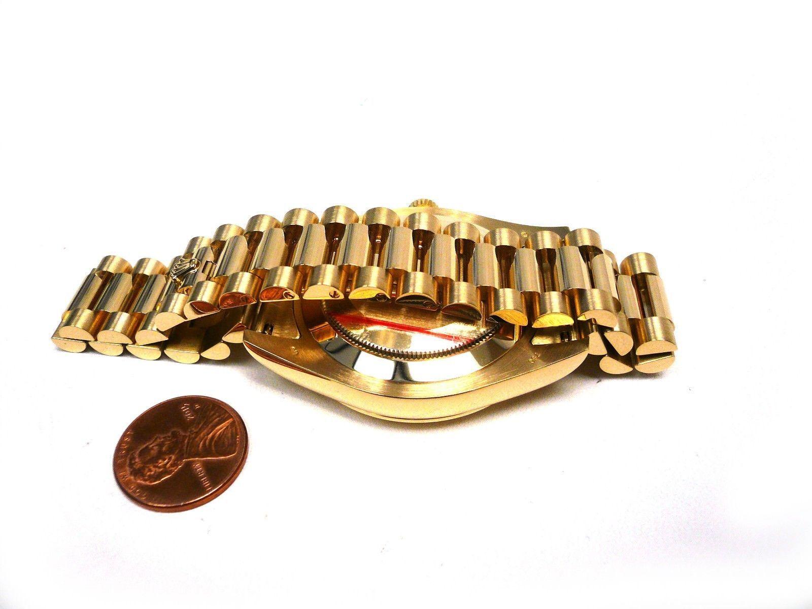 Rolex daydate ii k gold president bracelet box and cert