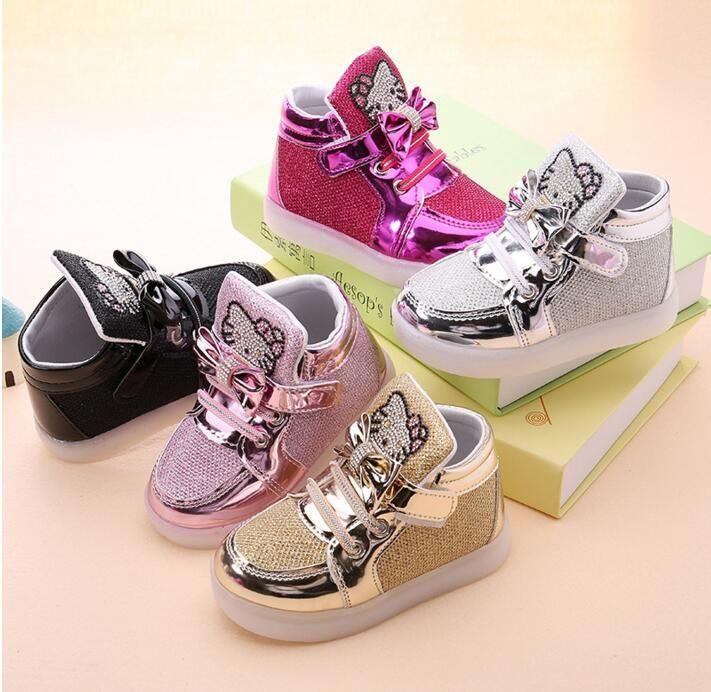 Hello Kitty Chaussures Jaunes Avec Des Enfants Boucle BdQu5L