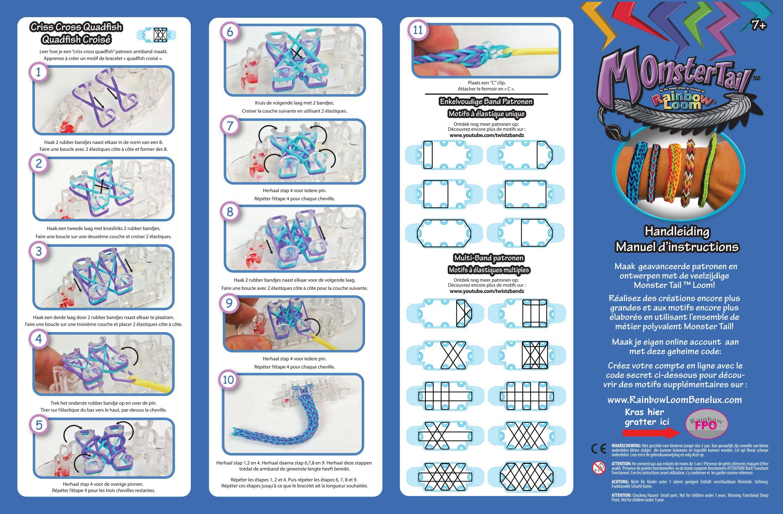 Схемы плетения в картинках браслетов из резинок 15