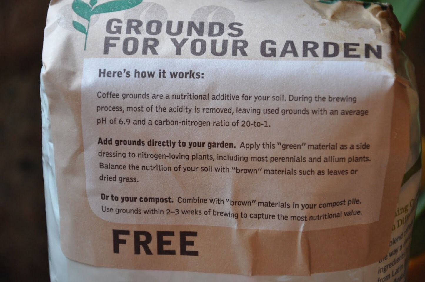 Ask Your Local Coffee Shop For Their Used Coffee Grounds