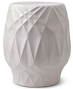 Happy Chic by Jonathan Adler Embossed Ceramic Stool on shopstyle.com