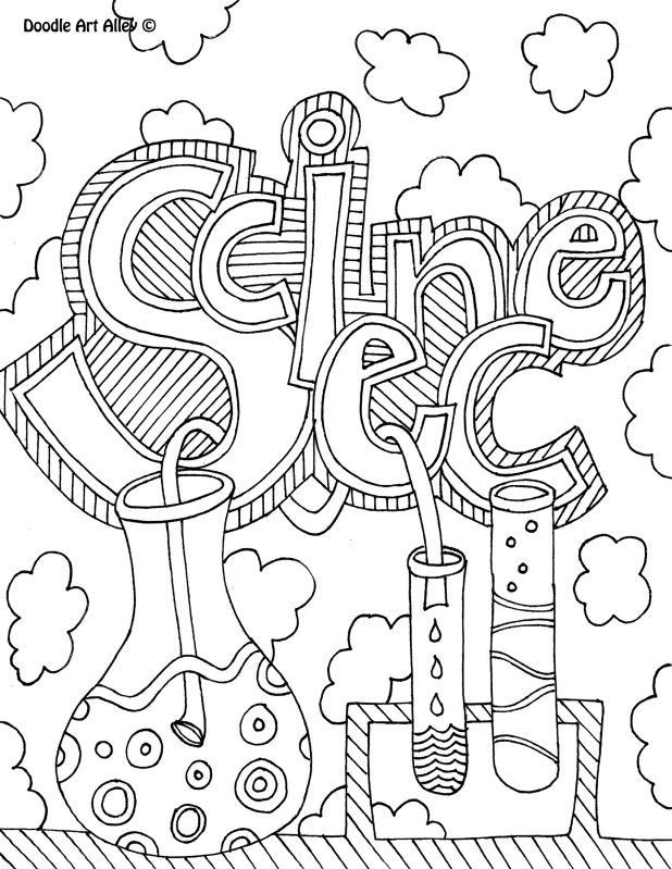 science doodle art coloring pages enjoy coloring