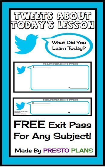 twitter templates for students - Google Search teaching - free pass template