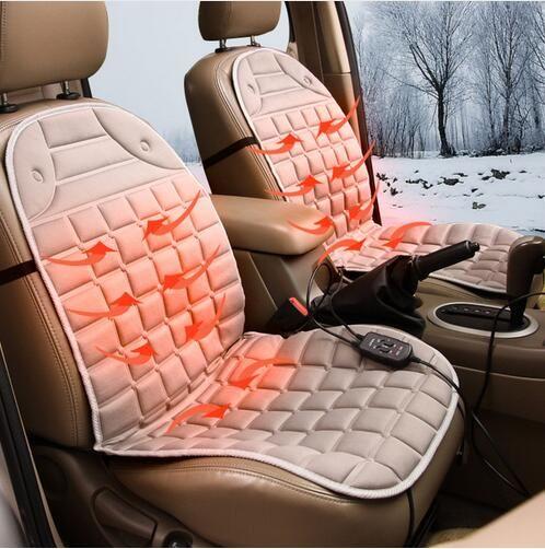 Quattro stagioni lino generale inverno auto riscaldato 12 v auto riscaldamento elettrico cuscino del sedile Auto riscaldamento elettrico pad covers