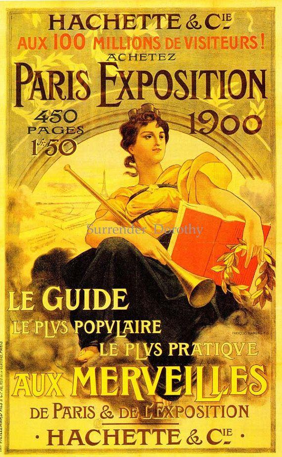 Vintage Paris Exhibition Poster France Francois Flemming