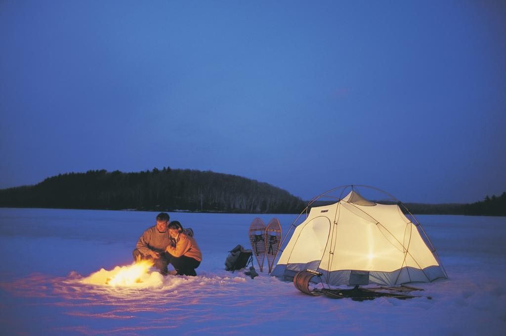 Extra surprise for Rob- Winter c&ing in Gatineau Park D & Extra surprise for Rob- Winter camping in Gatineau Park :D ...