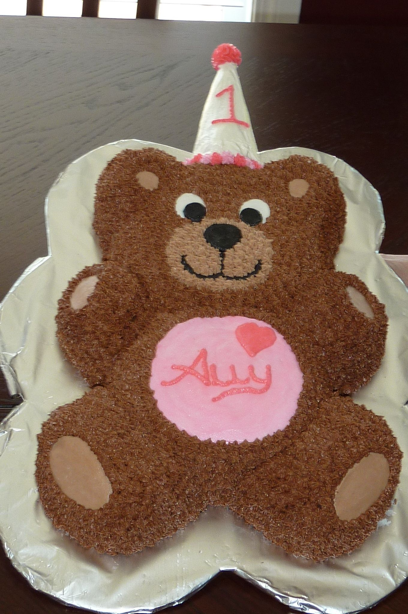 Teddy Bear Cake With Images Teddy Bear Birthday Cake Teddy