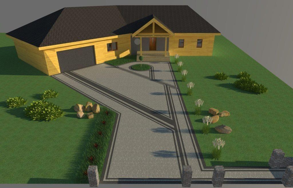 Projekty kostki brukowej przed domem kostka brukowa for Home design 3d outdoor garden 4 0 2