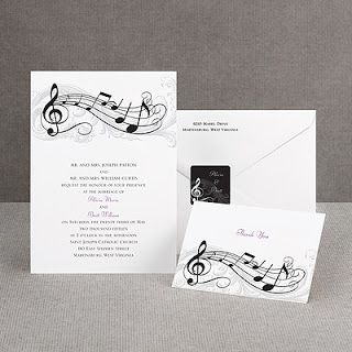 Music Wedding Invitations Music Themed Wedding Wedding Ideas
