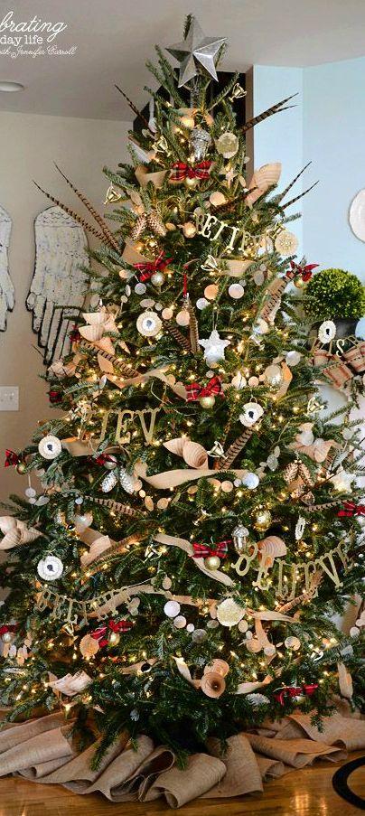 Christmas Tree Burlap Garland Country Christmas Trees