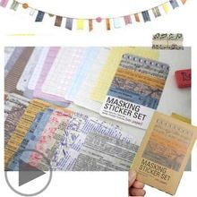 27 hojas/juego Personajes Retro Planificador Diario de Papel Washi Engomada de Scrapbooking Del Arte de DIY Fabricación de la Tarjeta de Regalo Decoración de la Cinta(China (Mainland))