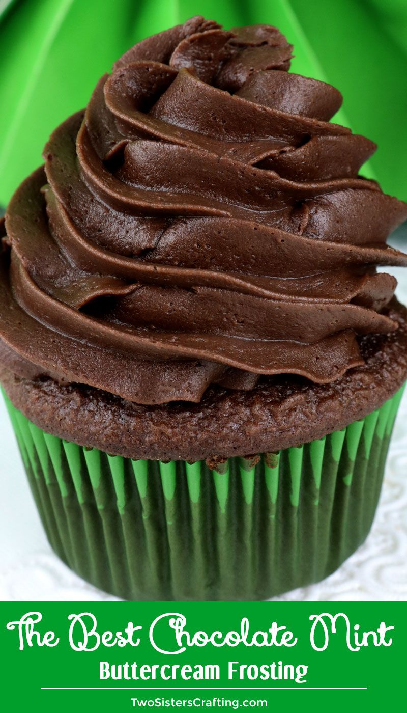 The Best Chocolate Mint Buttercream Frosting #icingfrosting