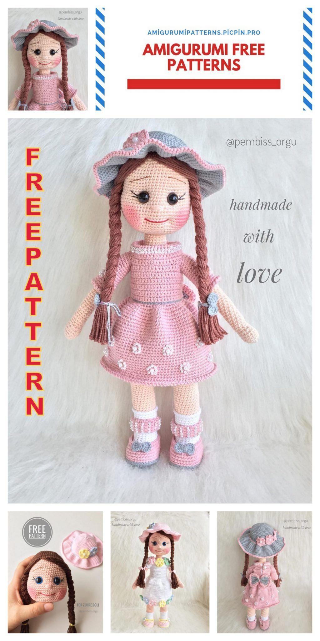 Sem título | Padrão de boneca de crochê, Bonecas de tricô, Bonecas ... | 2048x1024