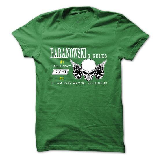 BARANOWSKI RULE\S Team  - #tshirt scarf #grey tshirt. ORDER NOW => https://www.sunfrog.com/Valentines/BARANOWSKI-RULES-Team-.html?68278