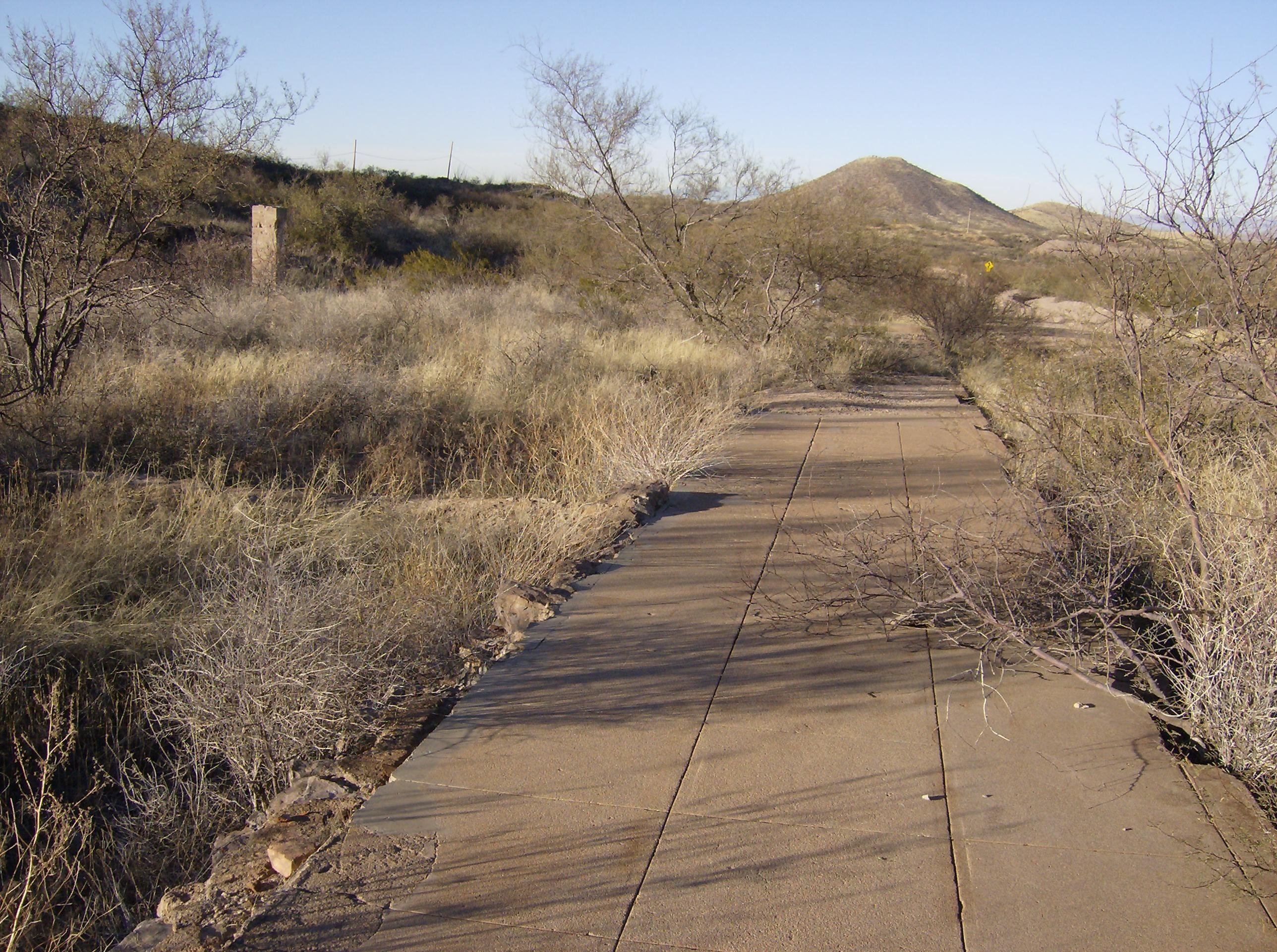 Side Walk Of Courtland Az Arizona S Ghost Towns