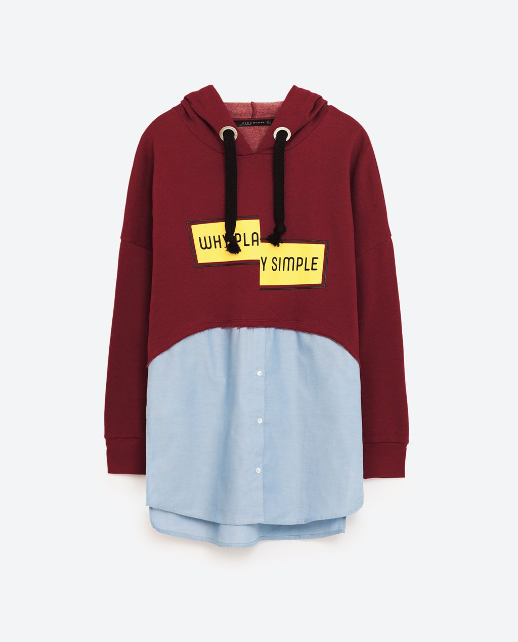 c286cb5d Why Play Simple CONTRAST SWEATSHIRT from Zara | Fashion Sense ...