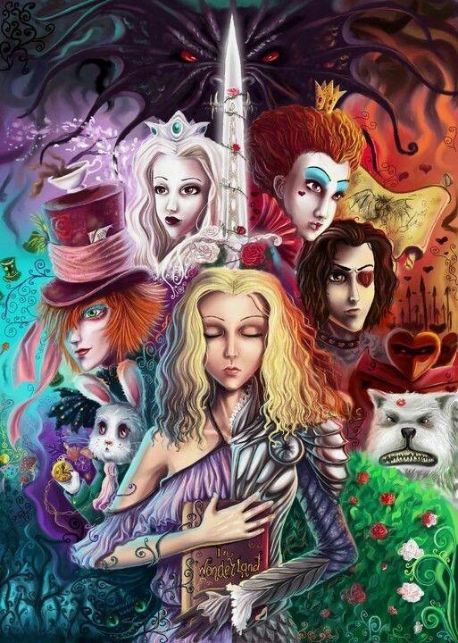 Twisted alice art | Wonderland in 2019 | Alice in ...