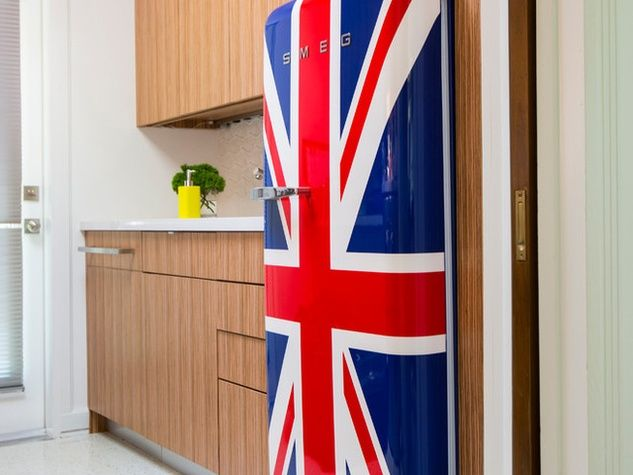 Smeg Kühlschrank Union Jack : Houzz houston house home 1960s london texas style kitchen union jack