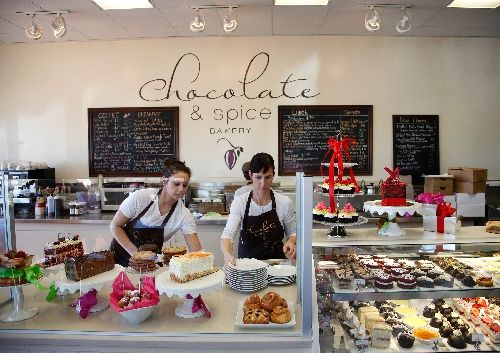 Chocolate & Spice bakery-cafe shows attention to detail in food, desserts - Entertainment / Neon - ReviewJournal.com Owner Megan Romano, right, and Elizabeth Salmonsen arrange items at the Chocolate & Spice Bakery. Photo by John Locher/Las Vegas Review-Journal