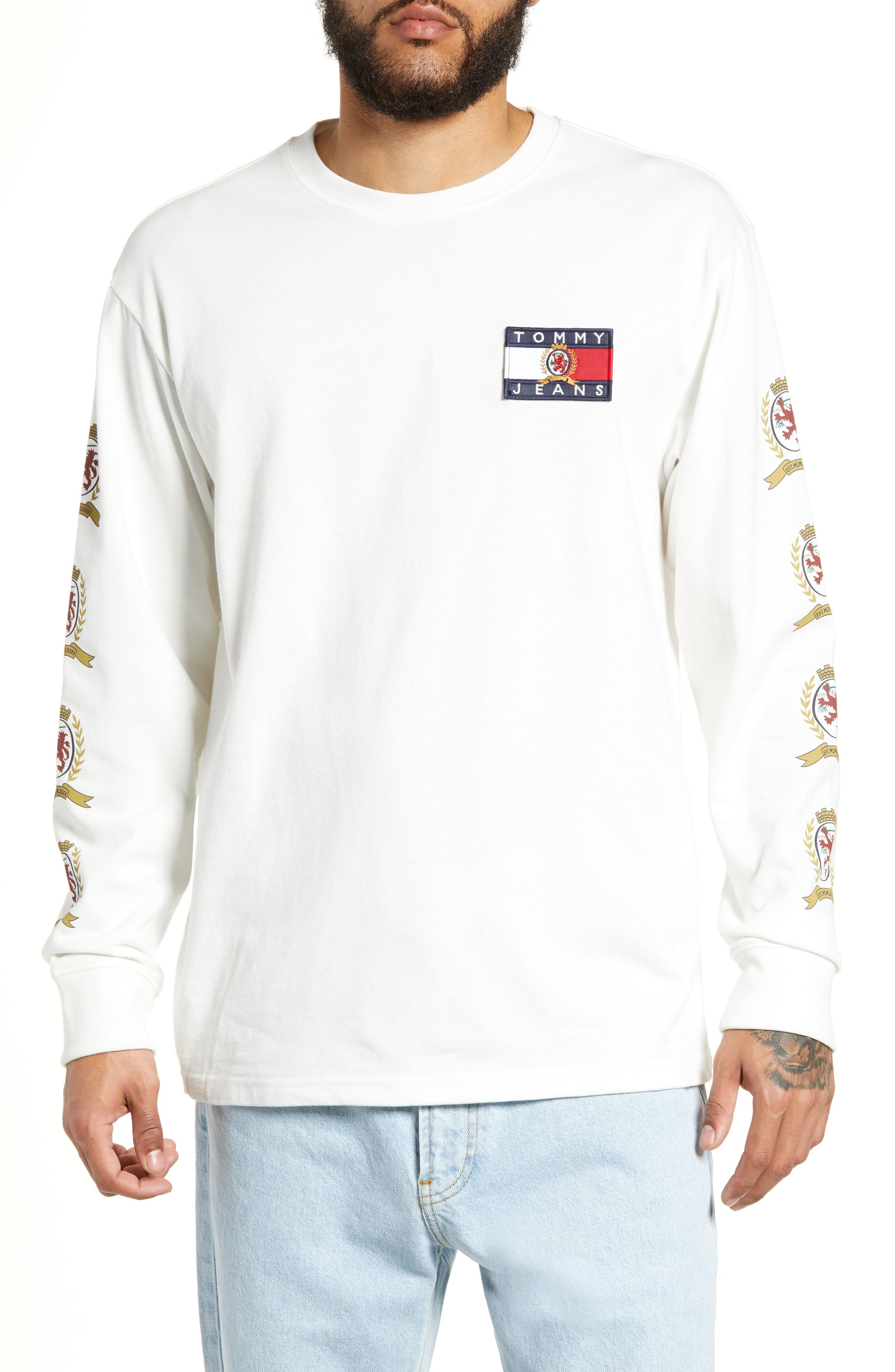 8a6f3199 TOMMY JEANS CREST LOGO LONG SLEEVE T-SHIRT. #tommyjeans #cloth ...