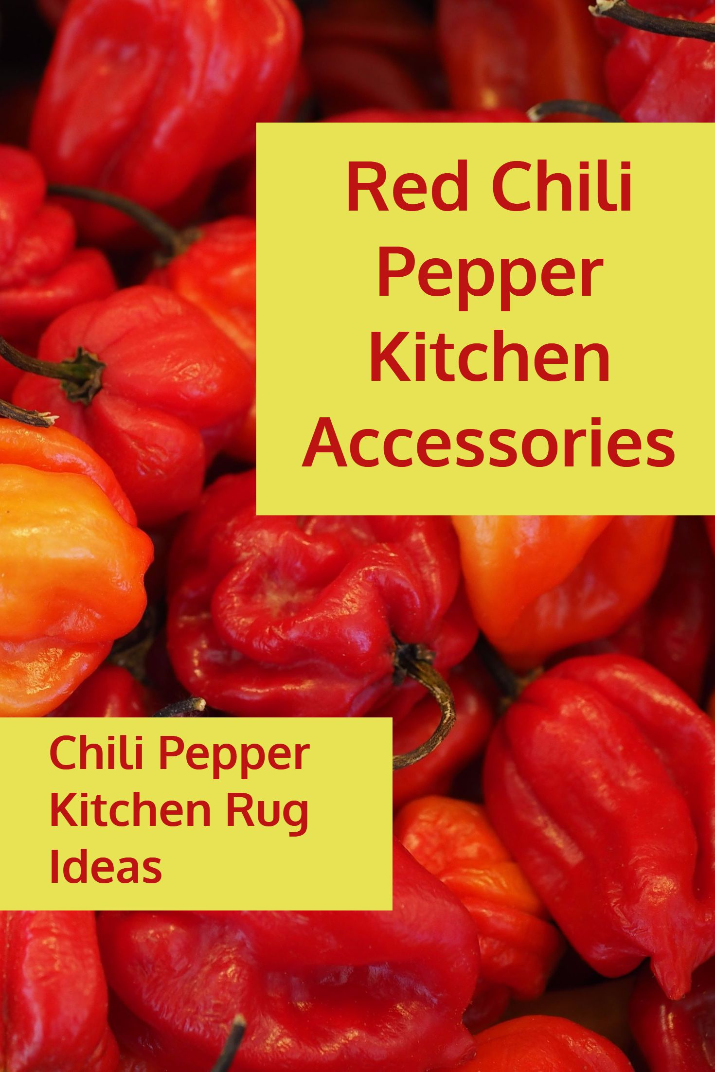 Red Chili Pepper Kitchen Accessories / Chili Pepper Kitchen Rug ...