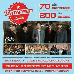 Untapped Festival - Coming November 1, 2014 to Dallas, TX