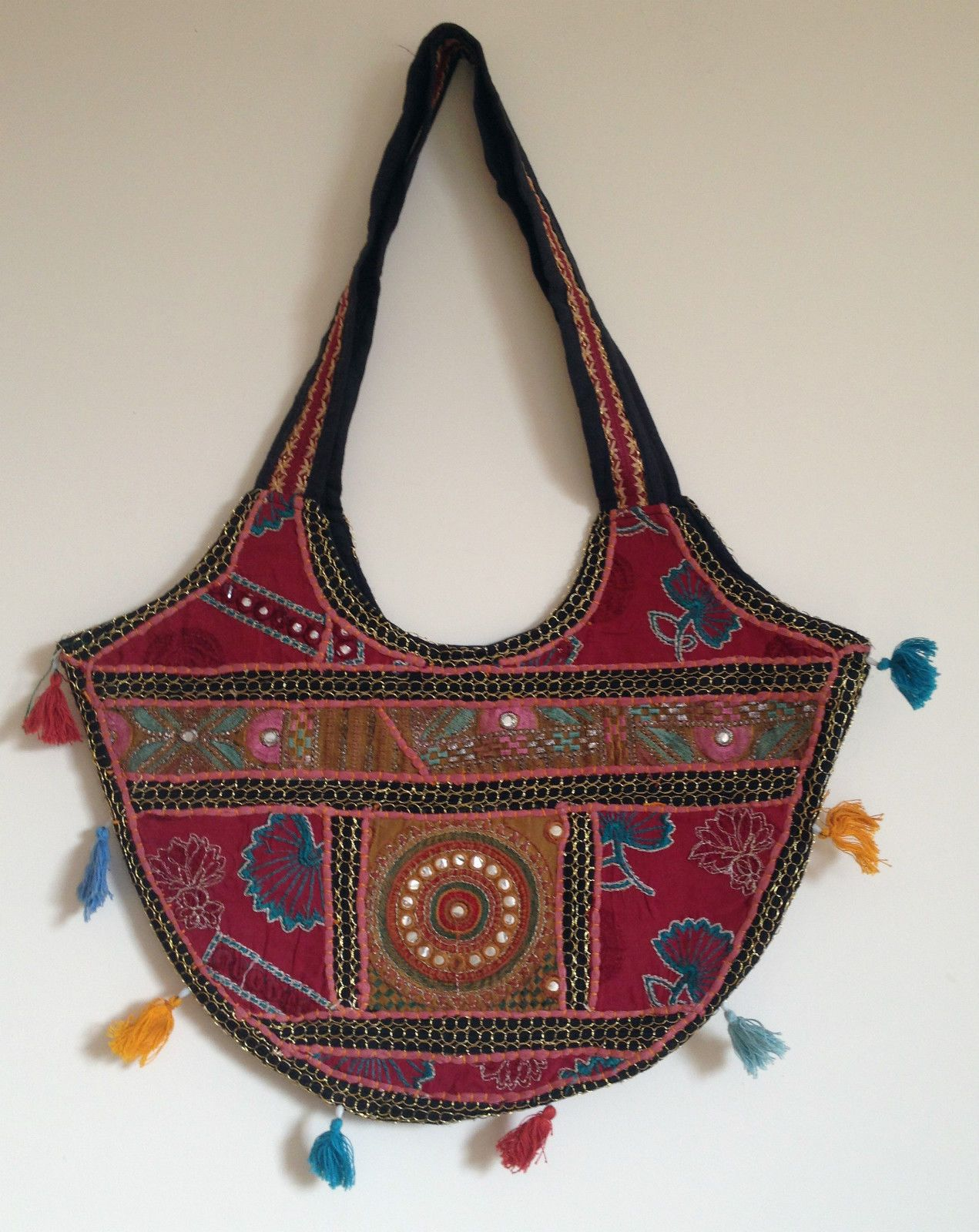 Indian Handicrafts Vintage Antique Patchwork Jhola Festival Style